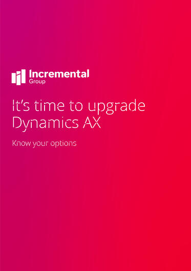Dynamics AX upgrade guide cover